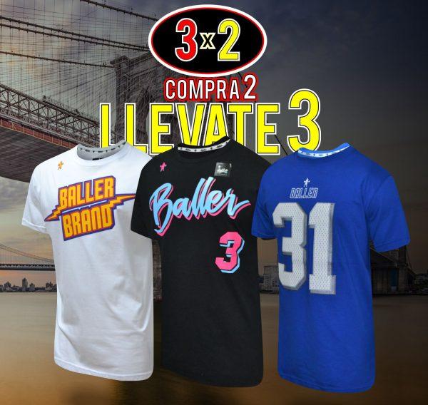 Oferta 2x3 en Remeras Baller Brand